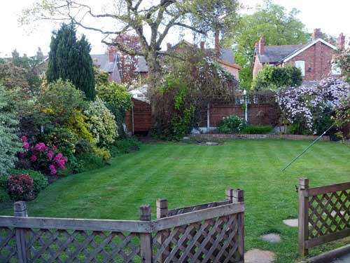 A dog home boarding garden in Wilmslow